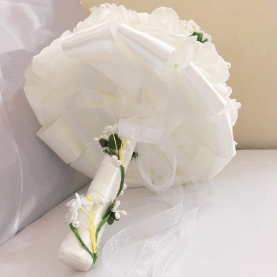 White Rose Wedding Bouquet with Small Flowers_4