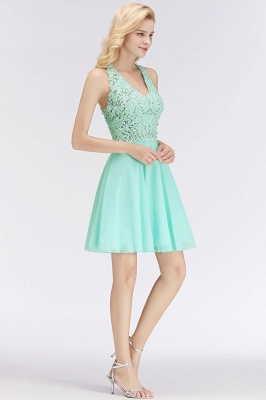 NONA | A-line V-neck Sleeveless Short Appliques Chiffon Homecoming Dresses_6