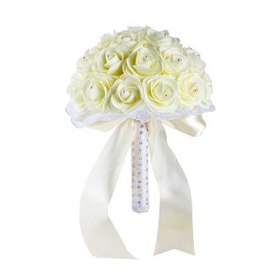 Colorido Rose rebordear Bouquet para la boda_2