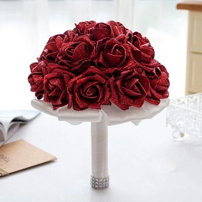 Sparkle Multiple Colors Rose Wedding Bouquet_8