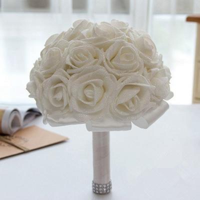 Sparkle Multiple Colors Rose Wedding Bouquet_1