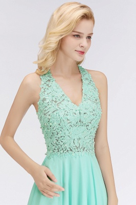 NONA | A-line V-neck Sleeveless Short Appliques Chiffon Homecoming Dresses_10