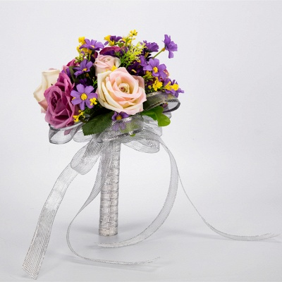 Multiple Artificial Flowers Bouquet for Wedding_4