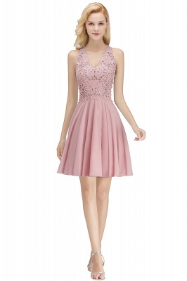 NONA | A-line V-neck Sleeveless Short Appliques Chiffon Homecoming Dresses_1