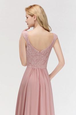 MARIA   A-line Long V-neck Sleeveless Lace Top Chiffon Bridesmaid Dresses_3