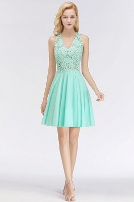 NONA | A-line V-neck Sleeveless Short Appliques Chiffon Homecoming Dresses_9