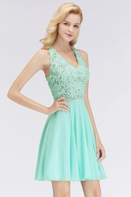 NONA | A-line V-neck Sleeveless Short Appliques Chiffon Homecoming Dresses_8