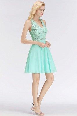 NONA | A-line V-neck Sleeveless Short Appliques Chiffon Homecoming Dresses_6