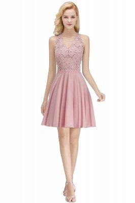 NONA | A-line V-neck Sleeveless Short Appliques Chiffon Homecoming Dresses_1