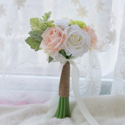 Real Touch Artificial Peony and Rose Wedding Bouquet