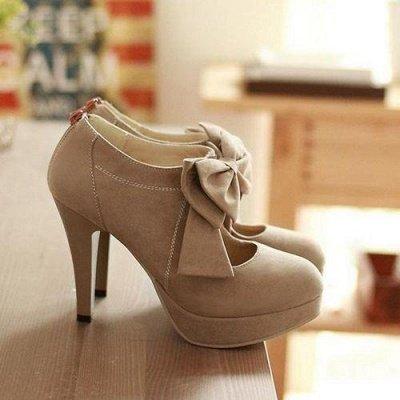 Round Toe Bowtie Hollow Stiletto Heel Women's Boots_2