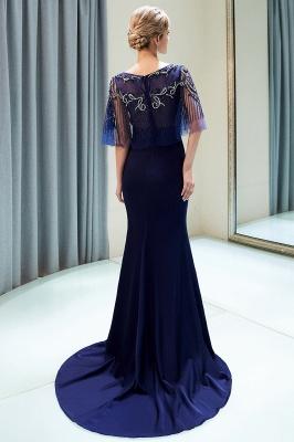 Mermaid Crystal Beading Floor Length Formal Party Dresses_6