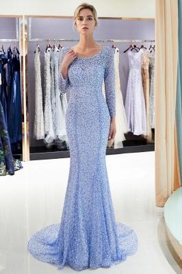 Mermaid Floor Length Long Sleeves Sequins Formal Party Dresses_6