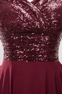 Elegant A-Line Burgundy Chiffon Sequined V-Neck Sleeveless Ruffles Floor-Length Bridesmaid Dresses_15