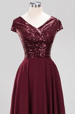 Elegant A-Line Burgundy Chiffon Sequined V-Neck Sleeveless Ruffles Floor-Length Bridesmaid Dresses_12