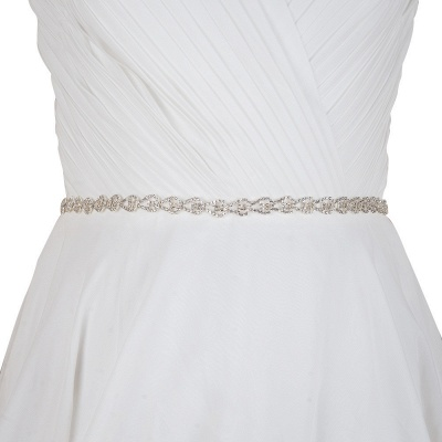 Beautiful Satin Rhinestone Crystals Wedding Sash