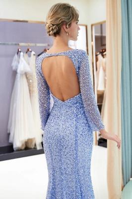 Mermaid Floor Length Long Sleeves Sequins Formal Party Dresses_9