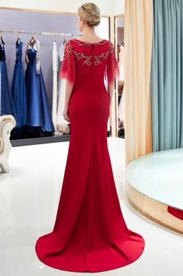 Mermaid Crystal Beading Floor Length Formal Party Dresses_1