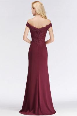 Elegant Mermaid Off-The-Shoulder Lace Green Bridesmaid Dresses_3