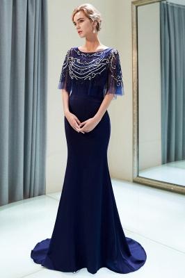 Mermaid Crystal Beading Floor Length Formal Party Dresses_9