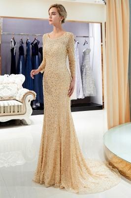 Mermaid Floor Length Long Sleeves Sequins Formal Party Dresses_14