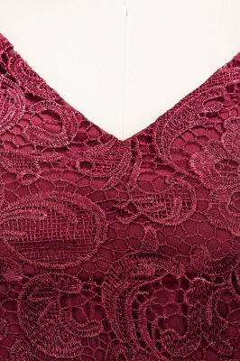 A-line Chiffon Lace V-Neck Sleeveless Floor-Length Bridesmaid Dresses with Ruffles_6