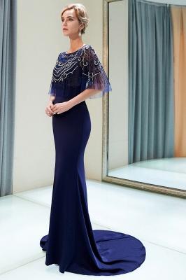 Mermaid Crystal Beading Floor Length Formal Party Dresses_5