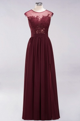 A-line Chiffon Lace Jewel Sleeveless Floor-Length Bridesmaid Dresses with Appliques_8