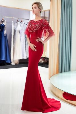 Mermaid Crystal Beading Floor Length Formal Party Dresses_11