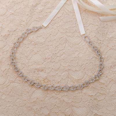 Beautiful Satin Rhinestone Crystals Wedding Sash_9