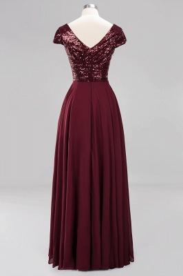 Elegant A-Line Burgundy Chiffon Sequined V-Neck Sleeveless Ruffles Floor-Length Bridesmaid Dresses_10