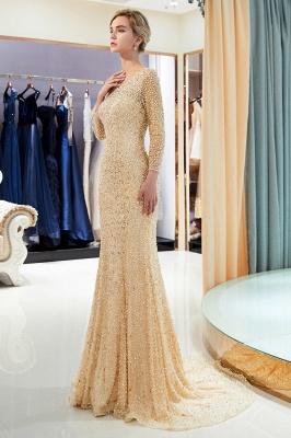 Mermaid Floor Length Long Sleeves Sequins Formal Party Dresses_12