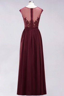 A-line Chiffon Lace Jewel Sleeveless Floor-Length Bridesmaid Dresses with Appliques_9