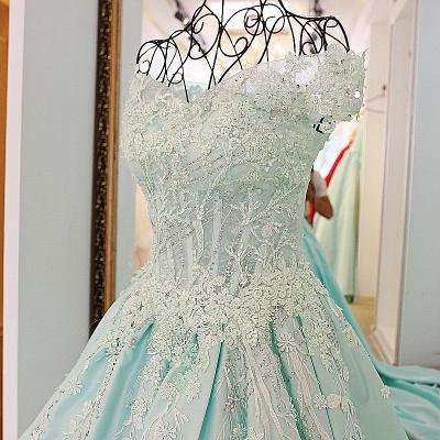 Sequins Off-The-Shoulder Applique Ball Gown Chapel Train Evening Dresses_5