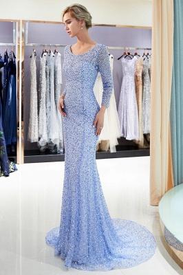 Mermaid Floor Length Long Sleeves Sequins Formal Party Dresses_5