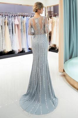 Mermaid Long Sleeves Sequined Pattern Evening Dresses_4
