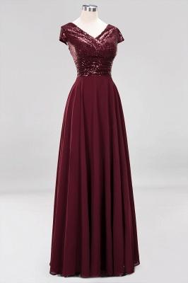 Elegant A-Line Burgundy Chiffon Sequined V-Neck Sleeveless Ruffles Floor-Length Bridesmaid Dresses_11