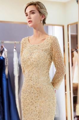 Mermaid Floor Length Long Sleeves Sequins Formal Party Dresses_18