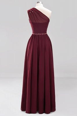 Elegant A-Line Burgundy Chiffon One-Shoulder Sleeveless Ruffles Floor-Length Bridesmaid Dresses with Beadings_15