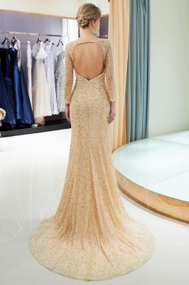 Mermaid Floor Length Long Sleeves Sequins Formal Party Dresses_15