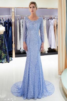 Mermaid Floor Length Long Sleeves Sequins Formal Party Dresses_7