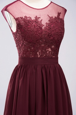 A-line Chiffon Lace Jewel Sleeveless Floor-Length Bridesmaid Dresses with Appliques_11