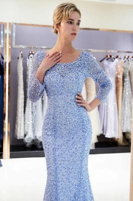 Mermaid Floor Length Long Sleeves Sequins Formal Party Dresses_8