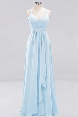 A-line Chiffon Spaghetti Straps Sleeveless Ruffles Floor-Length Bridesmaid Dresses_14