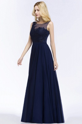 Chiffon Appliques Scoop Sleeveless Floor-Length Bridesmaid Dresses_3