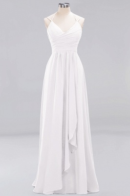 A-line Chiffon Spaghetti Straps Sleeveless Ruffles Floor-Length Bridesmaid Dresses_1