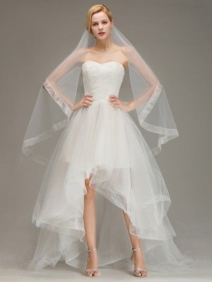 One Layer Cut Edge Wedding Veil Soft Tulle Bridal Veil