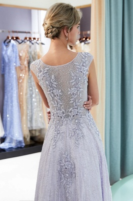 A-line Sleeveless Lace Appliques Flowers Formal Dresses_7