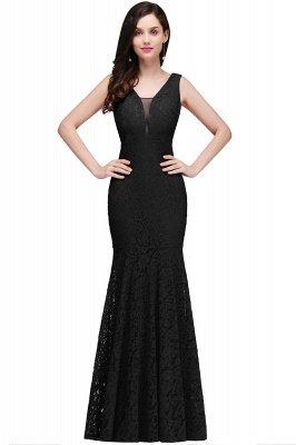 CLARISSA  Mermaid Floor-length Lace Red Prom Dress_4