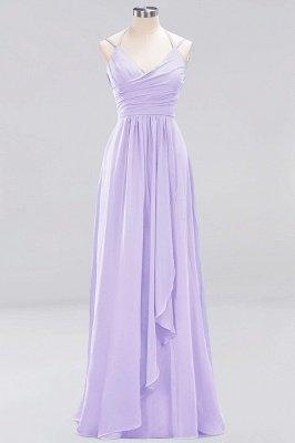 A-line Chiffon Spaghetti Straps Sleeveless Ruffles Floor-Length Bridesmaid Dresses_13